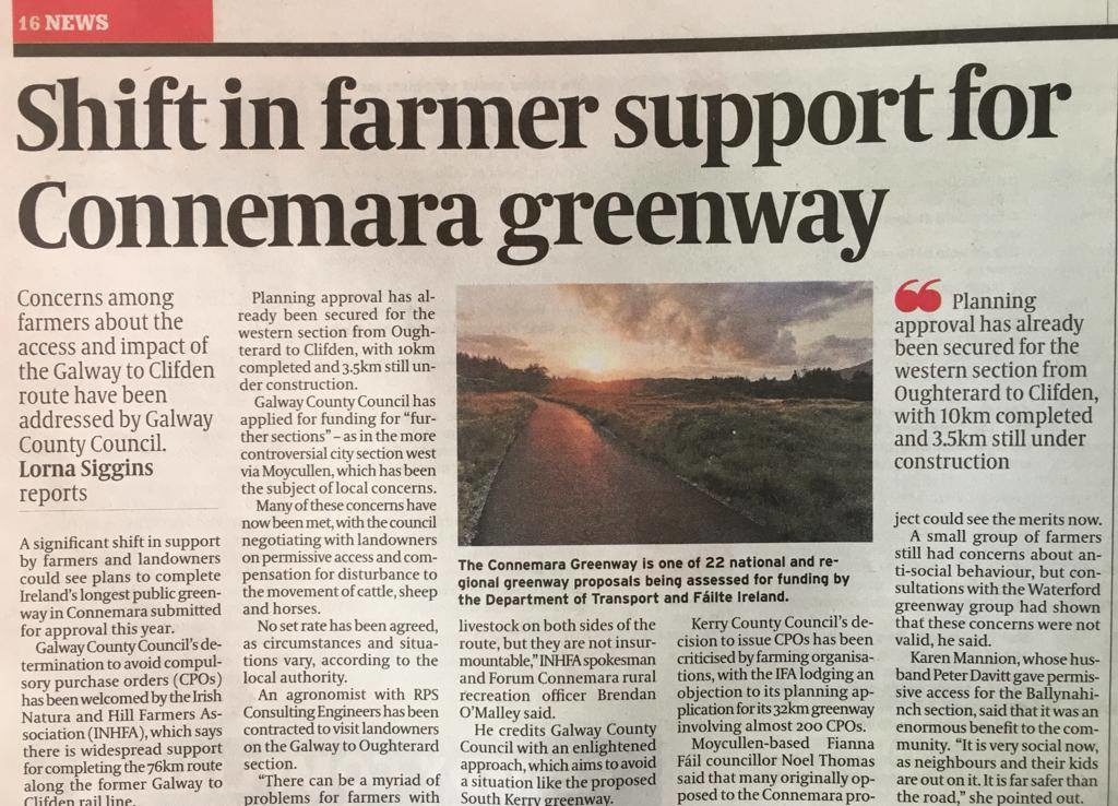 Farmers journal Report on Greenway